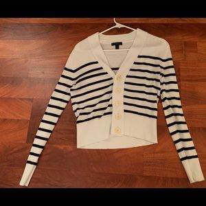 J. Crew striped cardigan with buttons